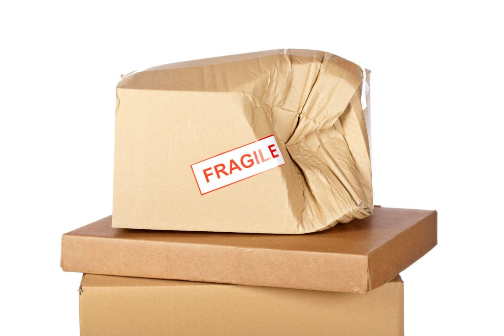 Improper packaging for your goods