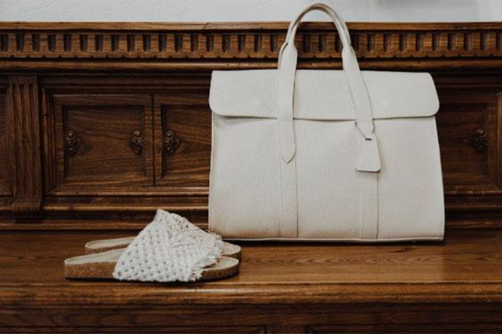 Cream Leather Handbag