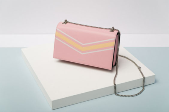 Fashion Handbag on Mint Background