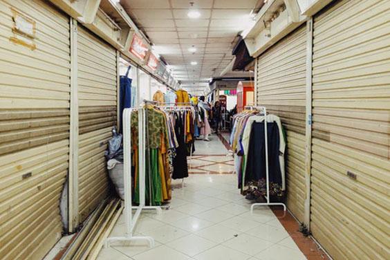 Wholesale clothing market